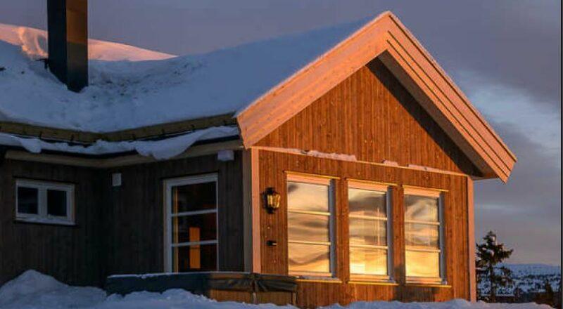 hytte i sol